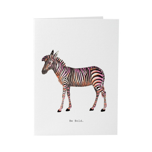 Be Bold Zebra - Card