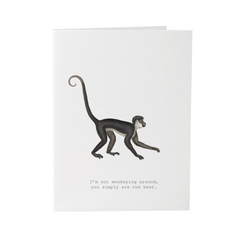 Monkeying Around - Card