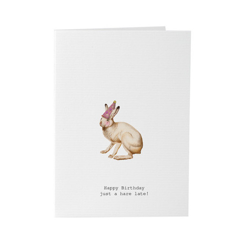 A Hare Late - Card