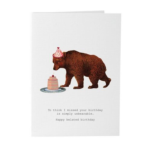 Simply Unbearable - Card