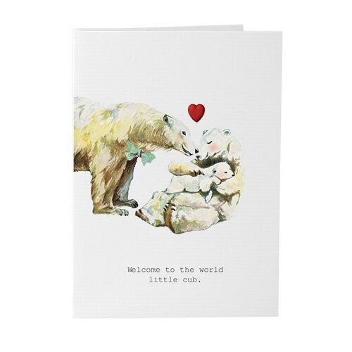 Welcome To The World Little Cub - Card