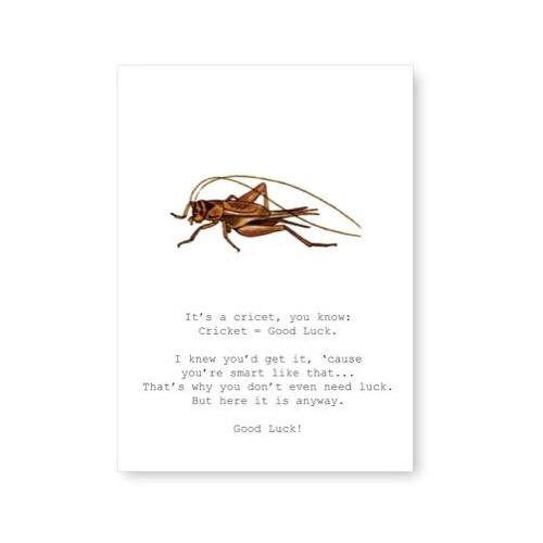 Cricket = Good Luck - Card