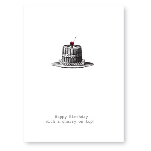 Happy Birthday Cherry On Top - Card