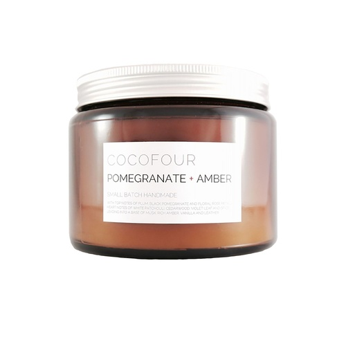 Pomegranate & Amber - Large Soy Candle