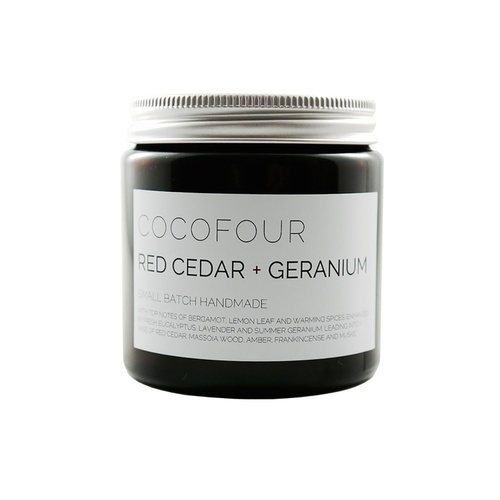 Red Cedar & Geranium - Small Soy Candle
