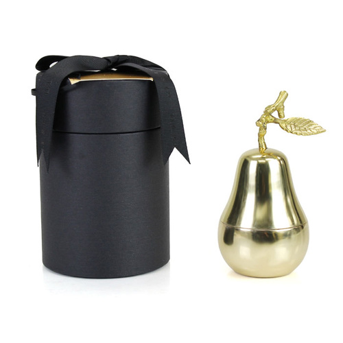 La Poire (Pear), Medium Gold Candle
